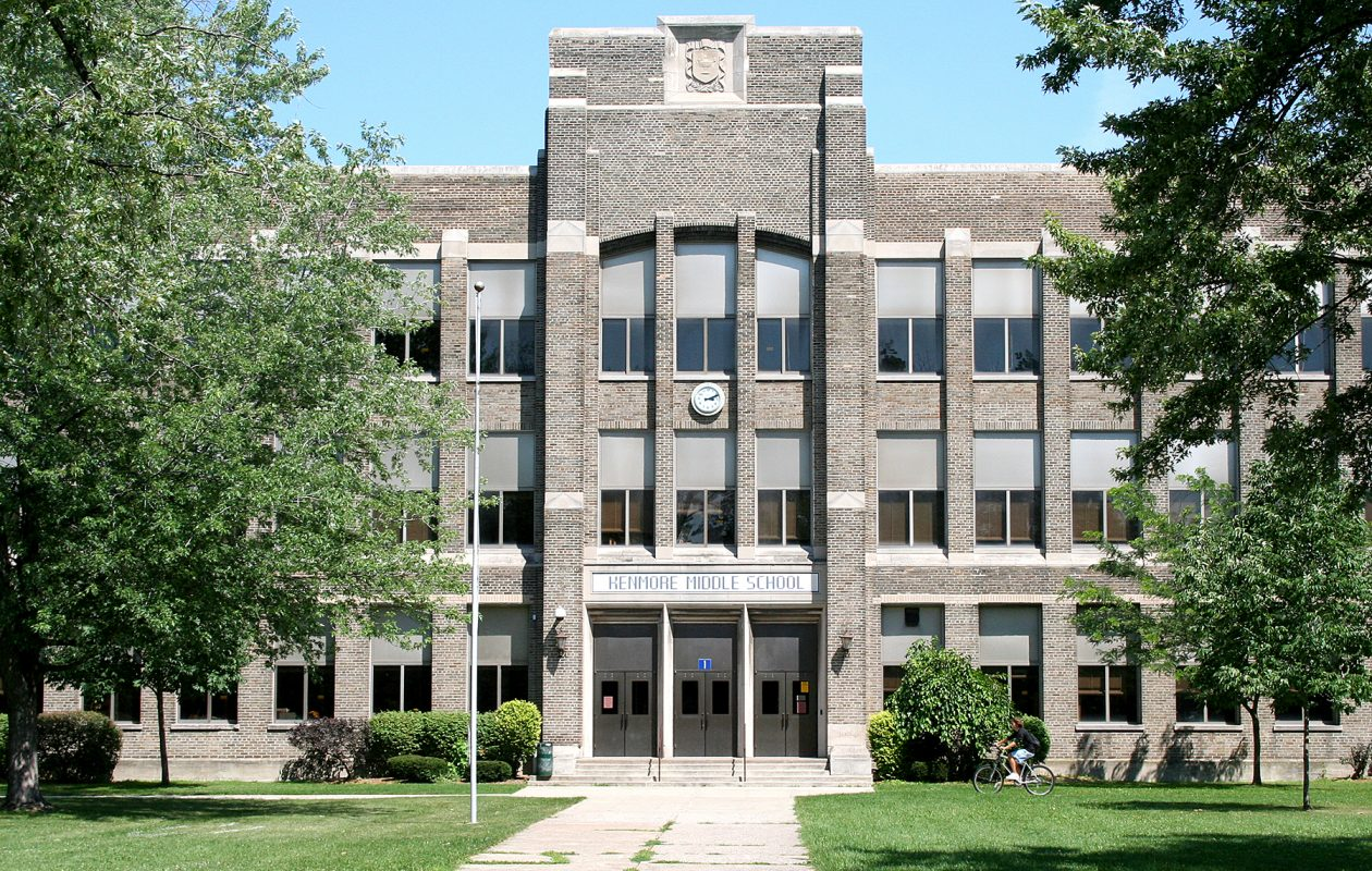 The former Kenmore Middle School. (Photo courtesy of the Kenmore-Town of Tonawanda School District)