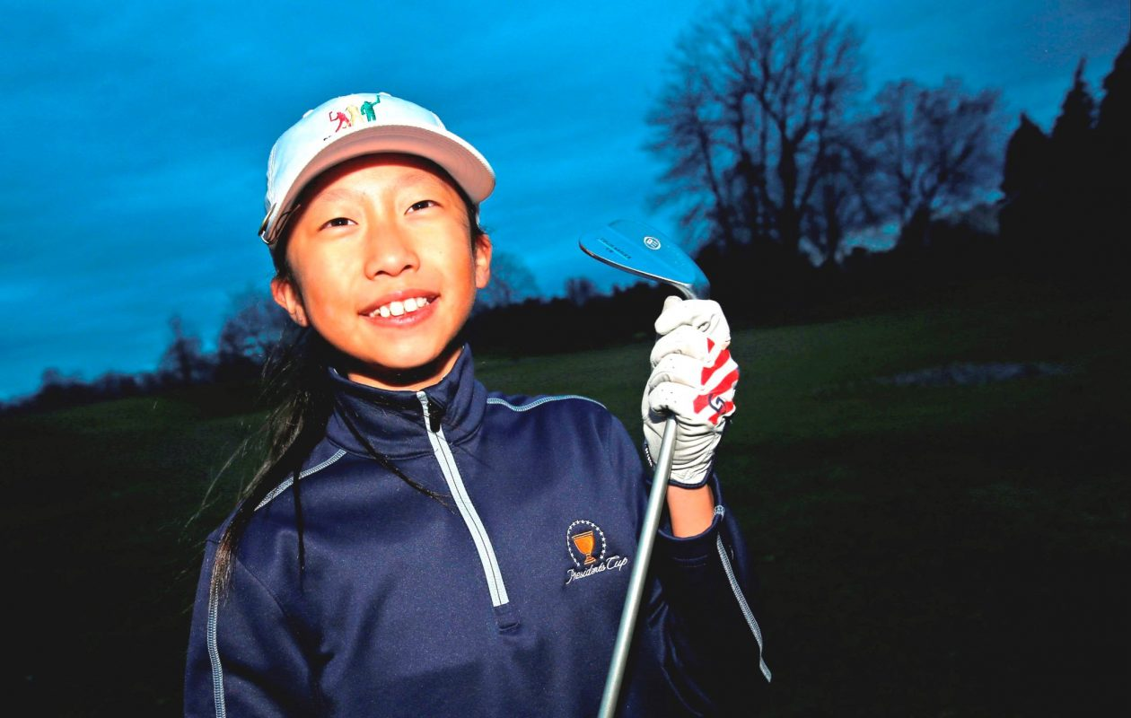 Lily Zhang of Williamsville finished fifth among 10 golfers in her age group in the national Drive Chip & Putt Championship Sunday in Georgia. (Robert Kirkham/News file photo)