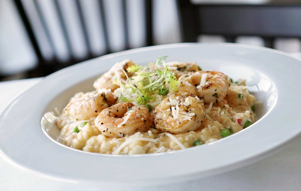 Shrimp and Lobster Risotto is the  creation of chef Alexander Diaczenko  of Lucia's on the Lake. (Dave Jarosz)