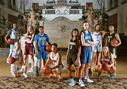 The members of the 2018 All-Western New York basketball teams, featuring first-team photographs taken by James P. McCoy at Statler City in the historic Statler building downtown. The annual All-Western New York issue is published Saturday.