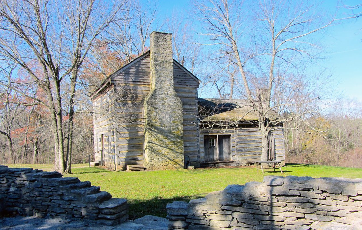 The early home of Abraham Lincoln's beloved mother, Nancy Hanks, is at Lincoln Homestead Park in Springfield, Kentucky. (Anne Schühle)