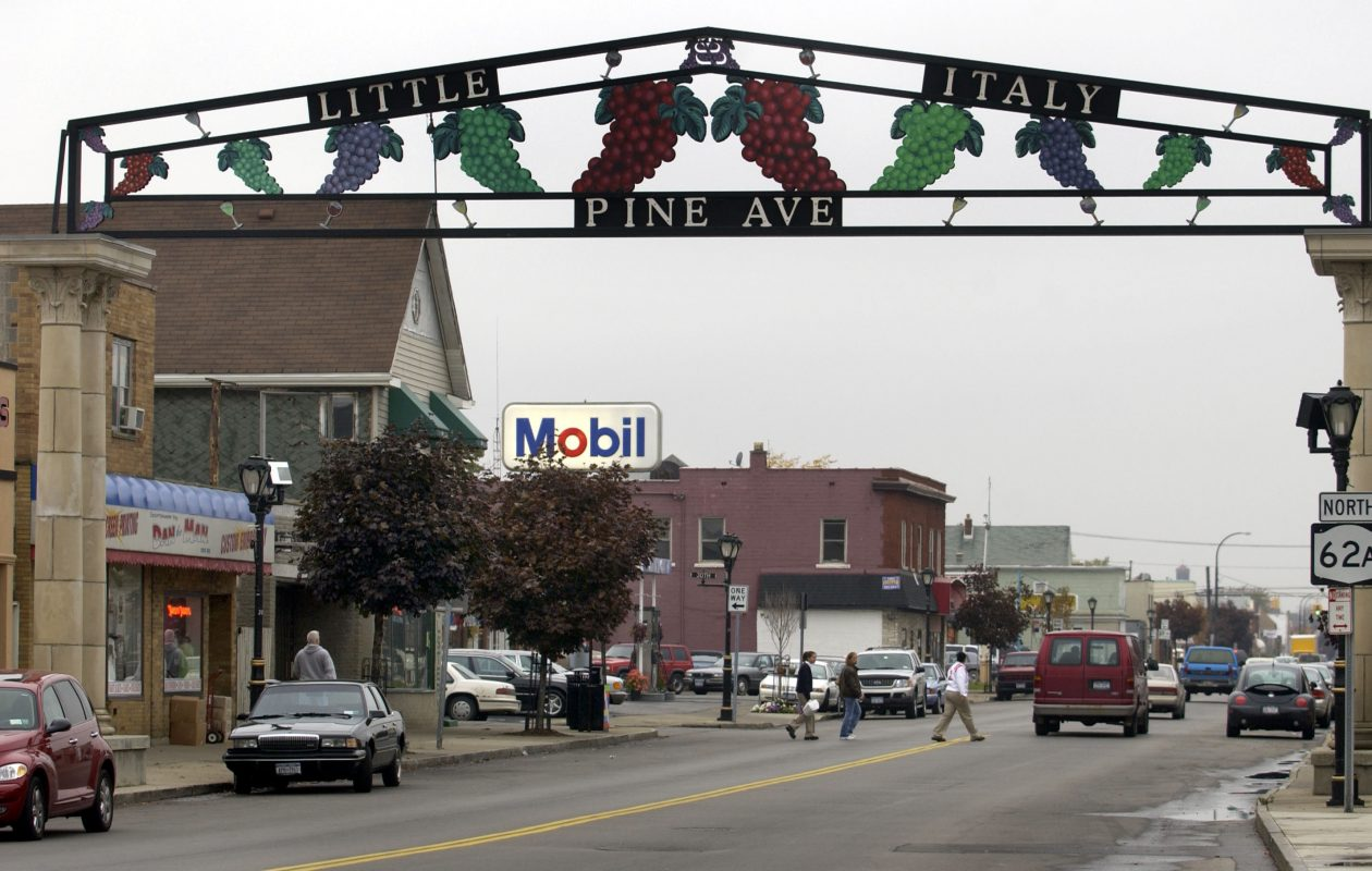 Traffic along Pine Avenue in the Little Italy section. (Buffalo News file photo)