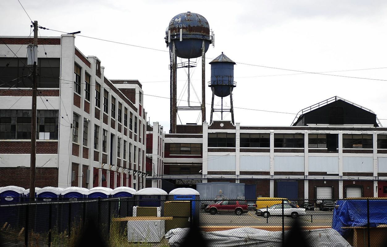 Harrison Place, the former Harrison radiator plant in downtown Lockport, is home to several microenterprises. The city is offering grants to assist such businesses. (Nick Agro / Buffalo News)