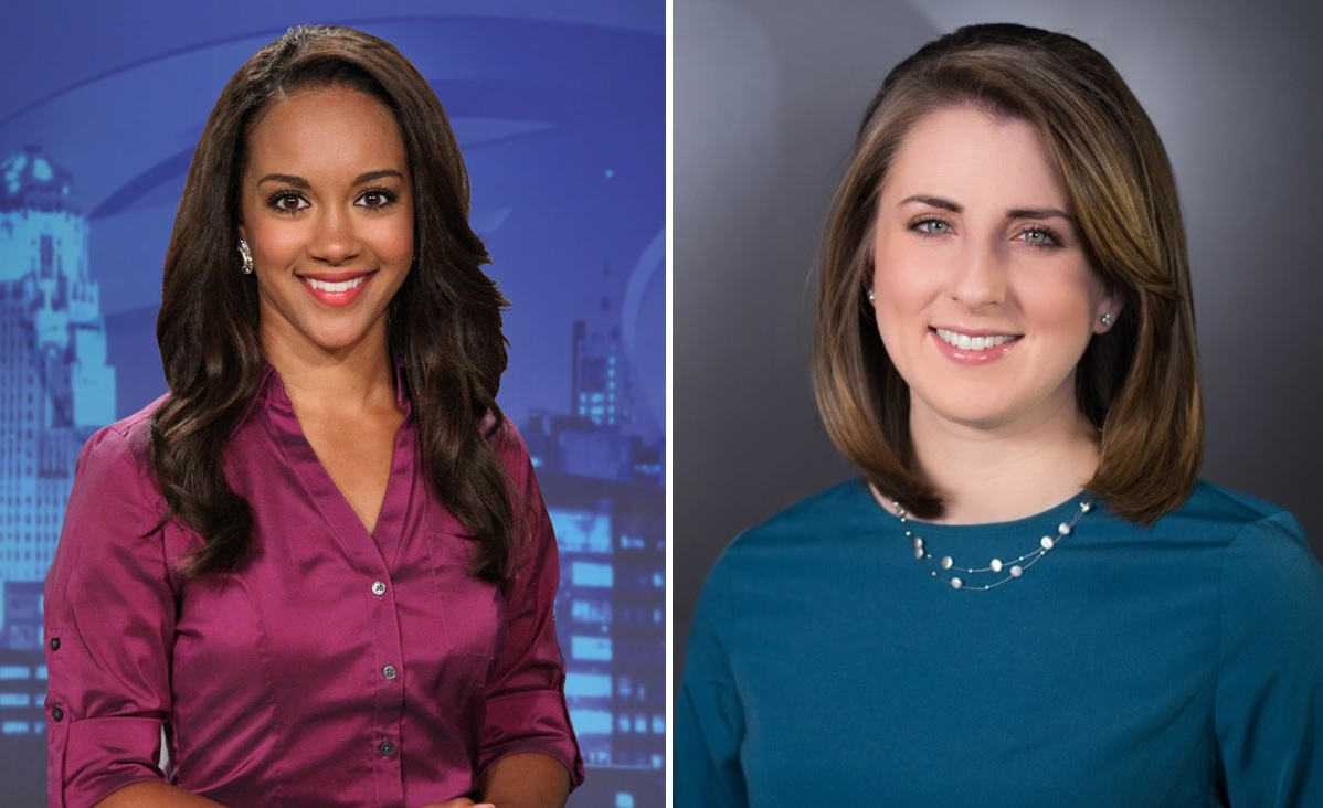Former Buffalo broadcaster Desiree Wiley, left, moves to another station, while Callan Gray's last day at Channel 4 has been determined. (via WKBW, WIVB)