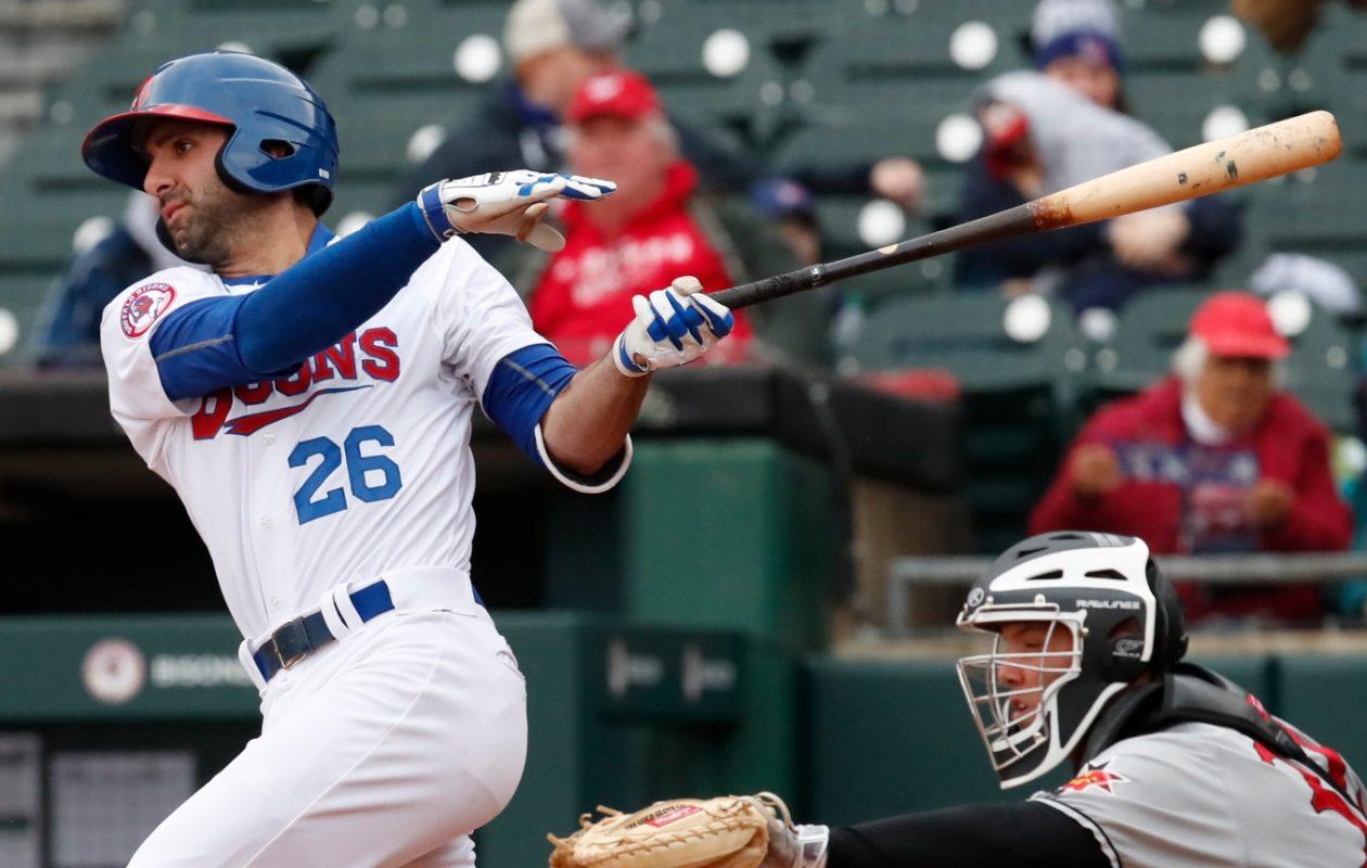 Jason Leblebijian has scored nine runs for the Bisons. (Harry Scull Jr./News File Photo)