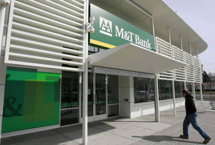 M&T Bank's first-quarter profits were better than analysts expected. {Harry Scull Jr/The Buffalo News.}