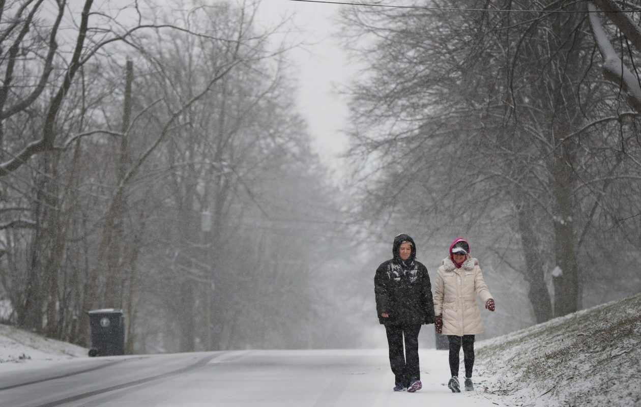 More snow showers are possible on Tuesday, forecasters at the National Weather Service predict. (Mark Mulville/Buffalo News)