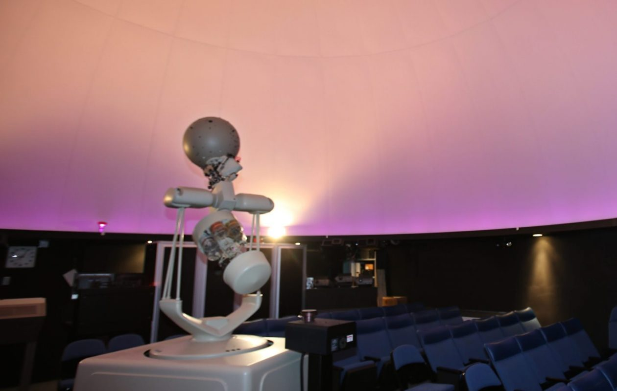 'Jake,' a painstakingly drilled globe, has achieved celebrity status at the Williamsville Space Lab Planetarium. (News file photo)