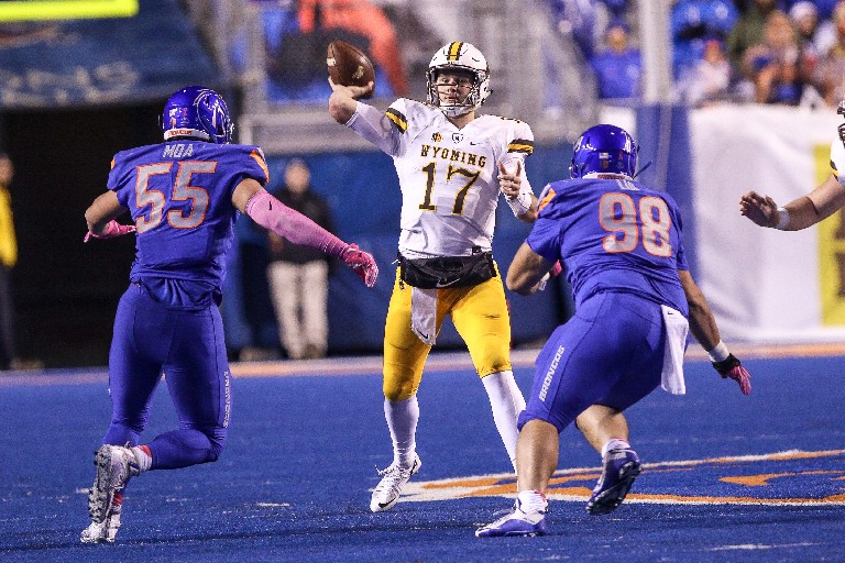 Should the Bills trade up to the No. 6 spot for the NFL Draft, Wyoming's Josh Allen could be waiting for them. (Getty Images)