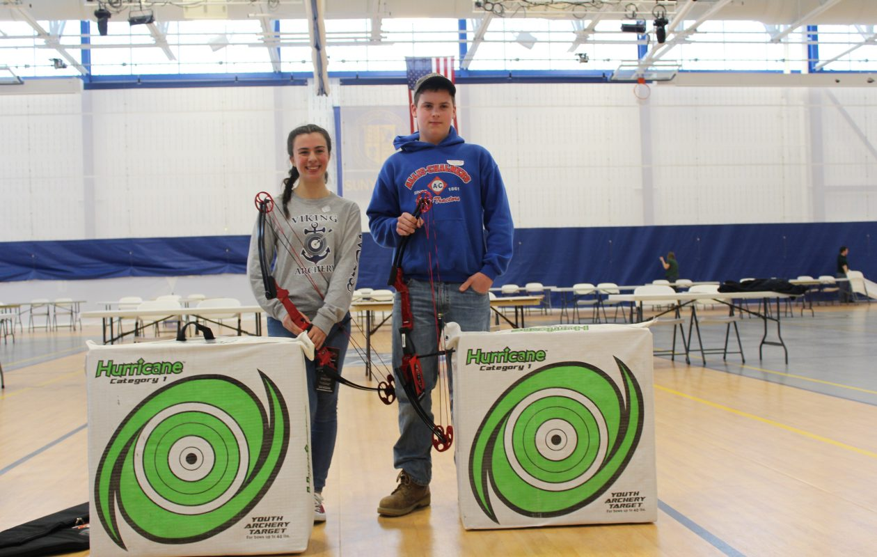 Dan Hoffman of Holland Central was the top male archer, Victoria Yuknek of St. Joseph by the Sea High School set the pace for the ladies.