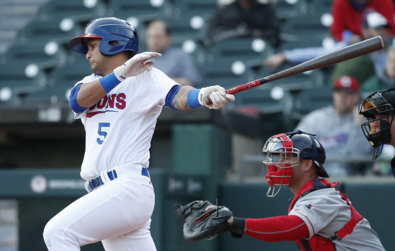Bisons infielder Tim Lopes had the inside scoop on Buffalo from his brother Christian before his arrival. (Harry Scull Jr./Buffalo News)