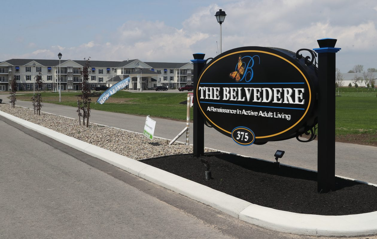 The Belvedere Senior housing complex for  active adult living, in Lancaster is ready to open.   (John Hickey/Buffalo News)