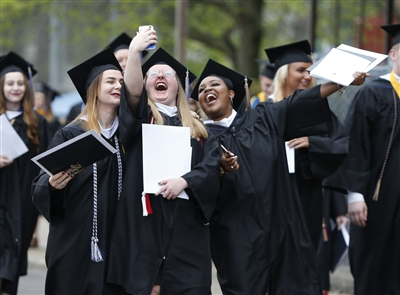 Canisius College holds its graduation ceremonies at the Koessler Athletic Center, Saturday, May 19, 2018.