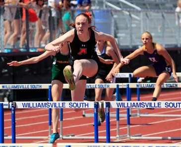 High school track and field athletes competed in the first day of the ECIC  championships held at Williamsville South High School on Friday, May 25, 2018.