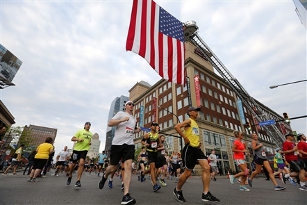 It was another large turnout for the 2018 Buffalo Marathon on Sunday, May 27, 2018. The annual race finishes in front of the Buffalo Niagara Convention Center, where a post-race party is held.