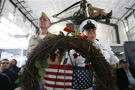 Western New Yorkers have formal and informal ways to observe Memorial Day on the opening day of the holiday weekend, Saturday, May 26, 2018. It includes the Wall of Honor ceremony at the Buffalo and Erie County Naval & Military Park.
