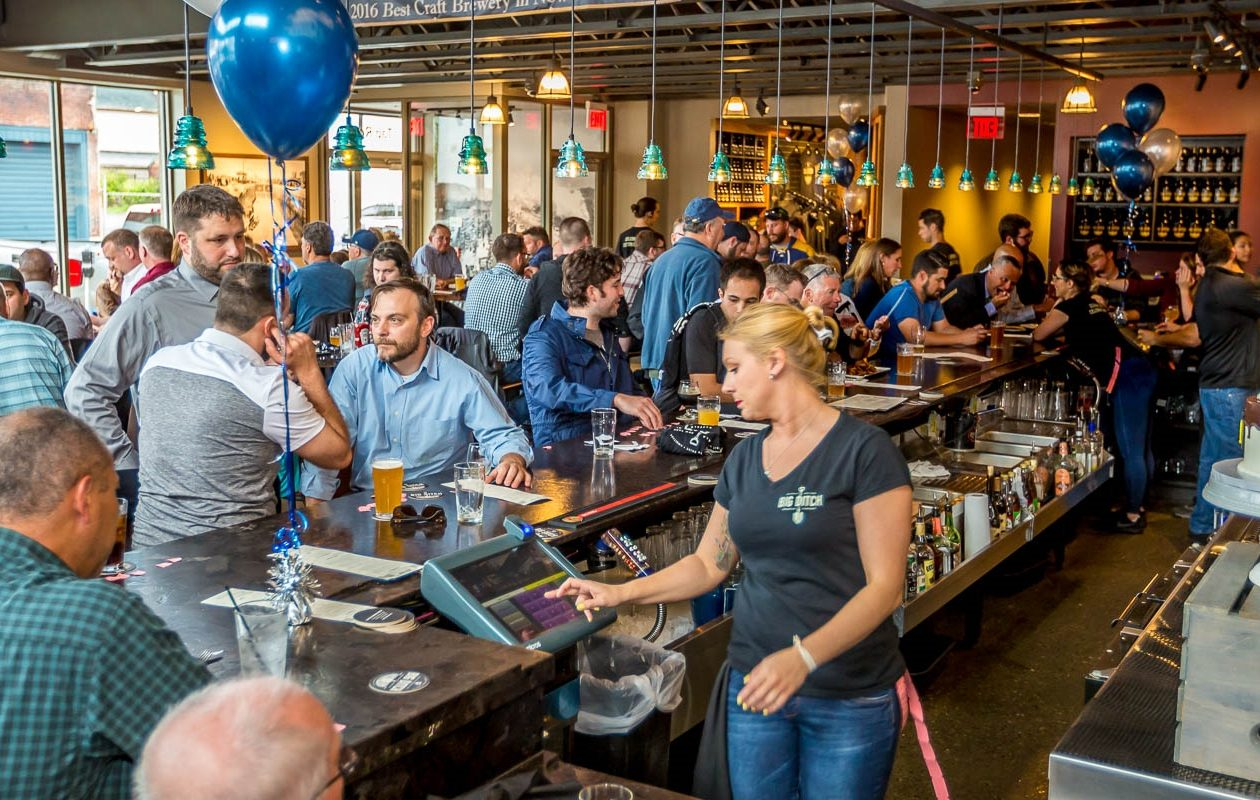The scene at Big Ditch's second anniversary party, from 2017. The downtown brewery celebrates its third birthday on Thursday. (Don Nieman/Special to The News)