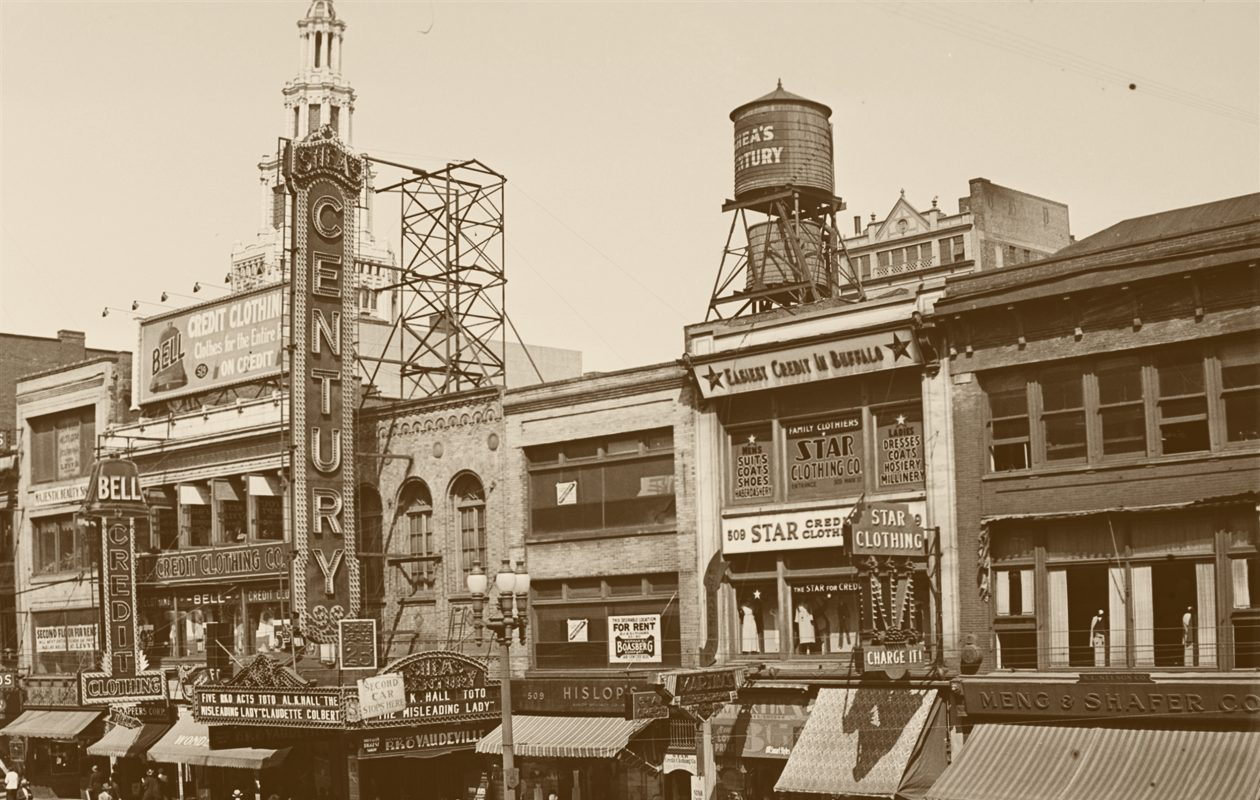 The Century Theatre on Main Street in a 1932 photo.  (Buffalo Stories archives)