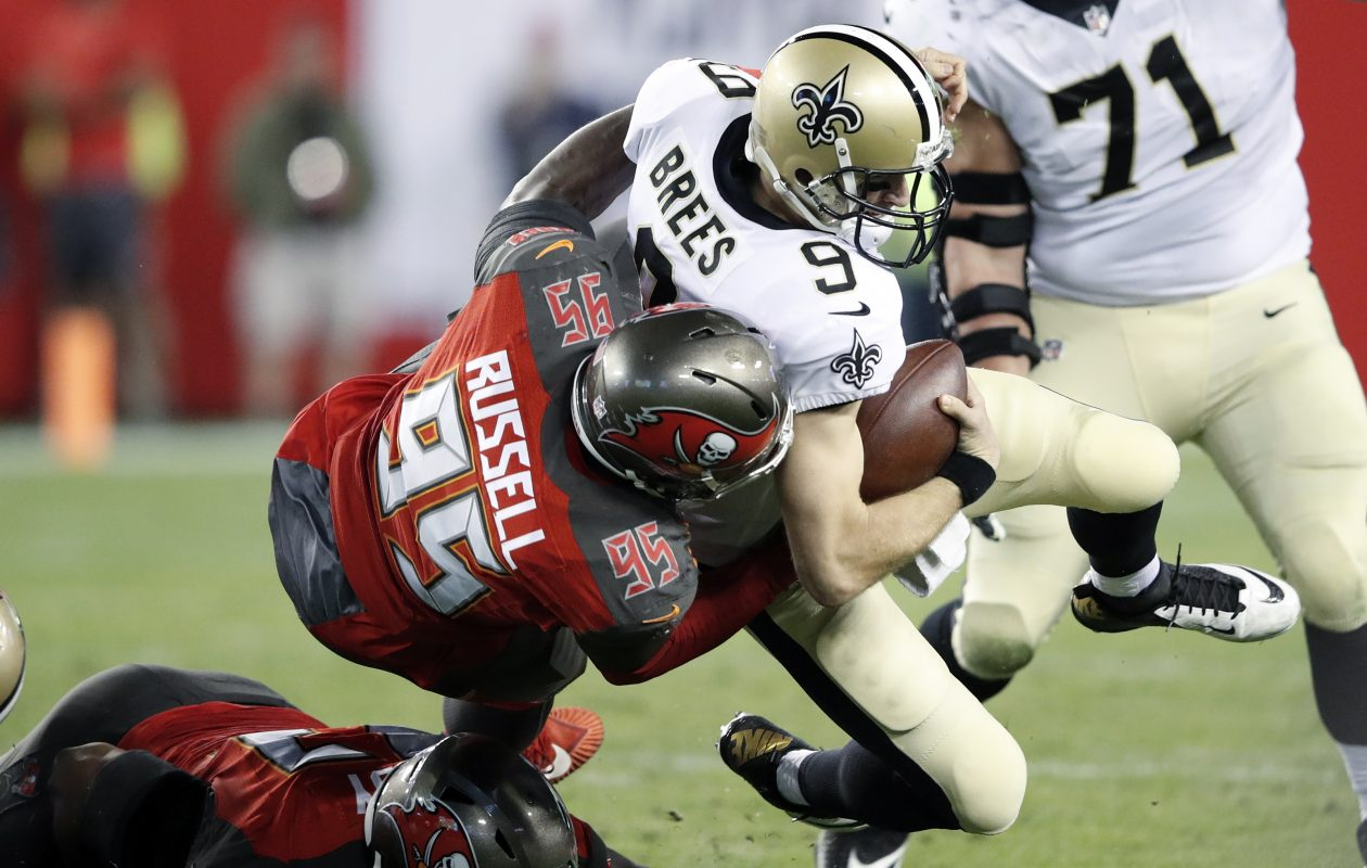 Former Buccaneers defensive end Ryan Russell made a free-agent visit to the Buffalo Bills. (Getty Images)