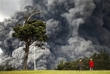 In Hawaii, the Kilauea volcano erupted from its summit Thursday morning, spewing an ash plume that reached 30,000 feet above the island of Hawaii. It was the most forceful new explosion so far at Kilauea, one of the world's most active volcanoes, but, Dr. Michelle Coombs of the U.S. Geological Survey told the New York Times,