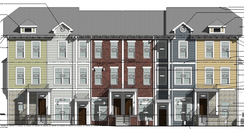 A rendering of part of Highland Park Village Phase 2.