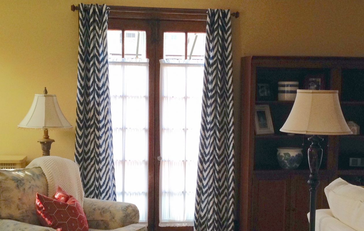 The French doors in the living room lead to the patio. (Photo courtesy Sally J. Broad)