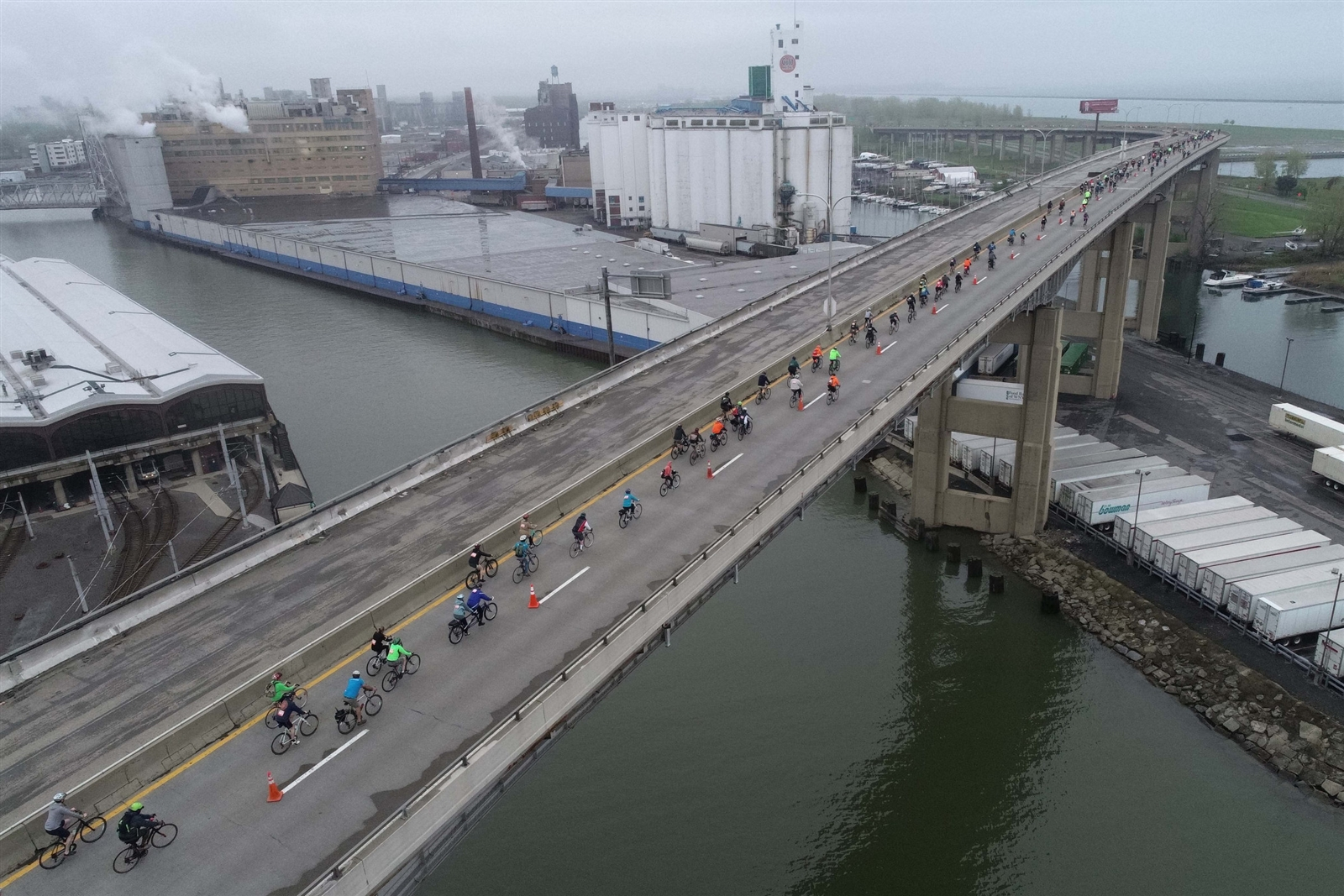 The annual bicycle event takes riders over the Skyway and this year onto the Kensington and Scajaquada Expressways in 10-mile and 18-mile routes in a celebration of bicycle access and awareness and healthy living.