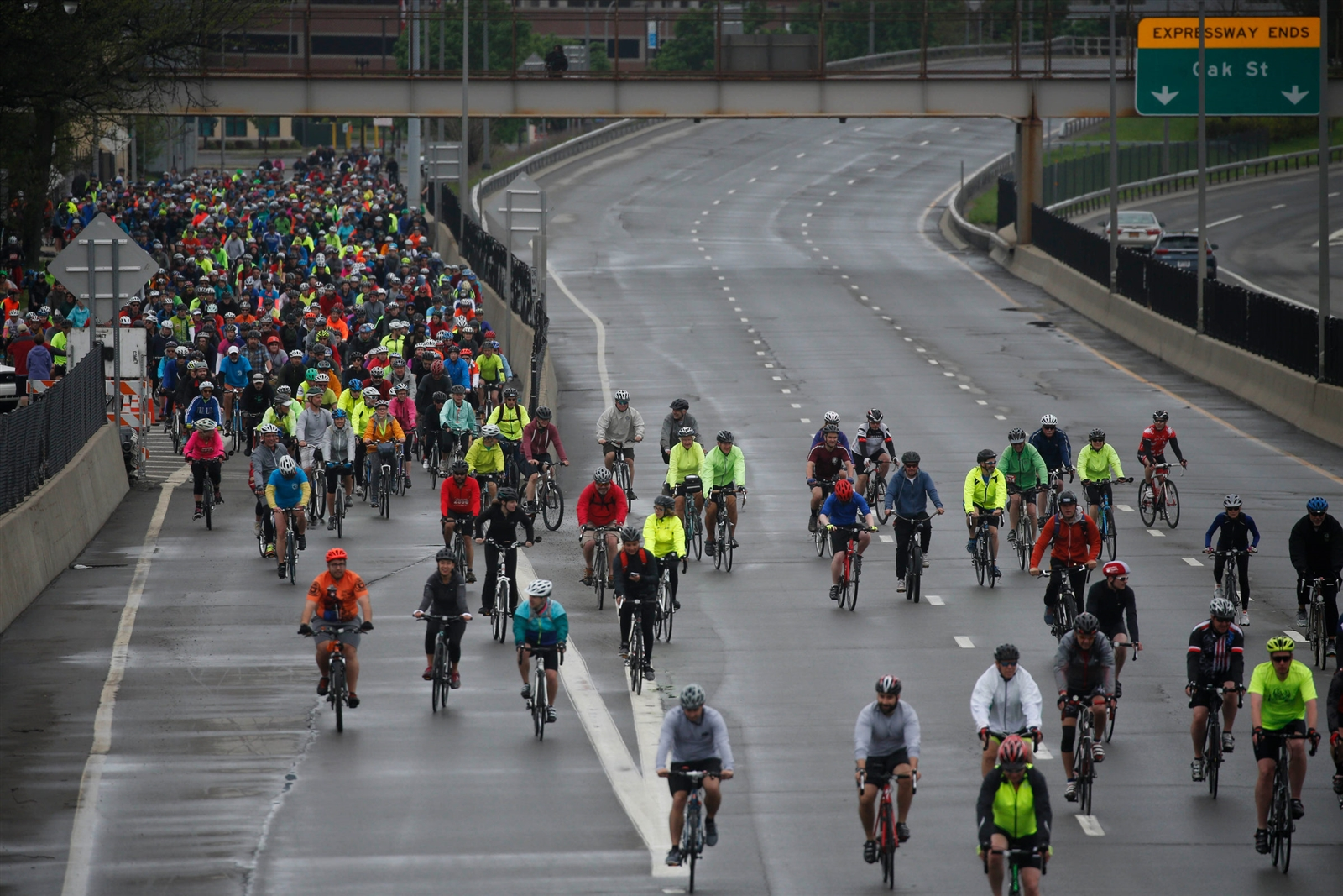 The annual bicycle event takes riders over the Skyway and, this year, onto the Kensington and Scajaquada expressways in 10-mile and 18-mile routes in a celebration of fitness bicycle access and awareness.