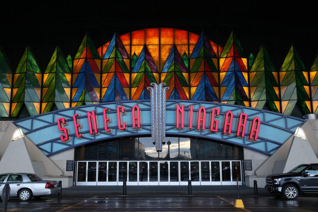 The Fourth Street entrance at Seneca Niagara Casino in Niagara Falls. (News file photo)