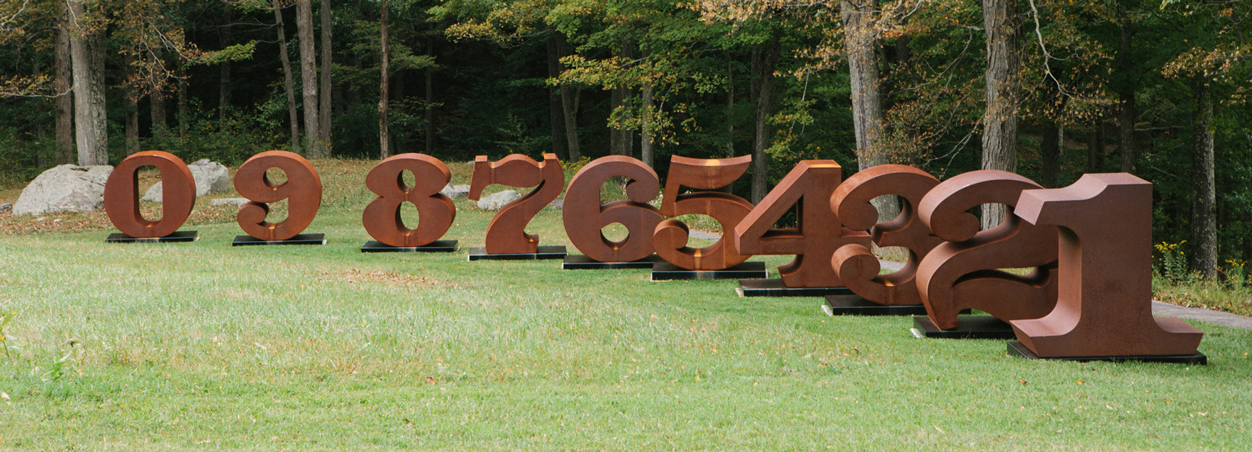'NUMBERS ONE through ZERO,' a collection of massive steel sculptures by Robert Indiana, will be installed in early June along Buffalo's Outer Harbor.