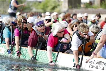 A team sets out to train for the Hope Chest Buffalo Dragon Boat Festival, which will be held Saturday on the Buffalo River near Buffalo RiverWorks, 359 Ganson St.