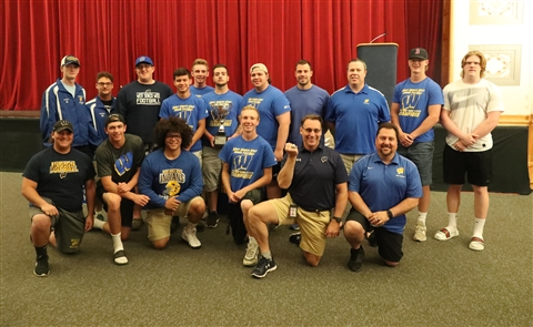 The Buffalo News is honoring the top scholastic athletes and teams as part of the Prep Talk Awards. The Team of the Year for 2017-18 is West Seneca West football. The Indians earned a share of the Class A South Division title and followed that by capturing its first Section VI Class A championship, beating division co-champion South Park in the final. West earned state tournament wins over Wilson Magnet, Whitesboro and then Yorktown at the Carrier Dome to capture the NYSPHSAA Class A title and finish 13-0.