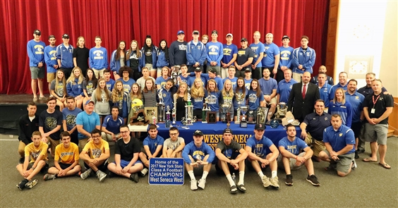 The Buffalo News is honoring the top scholastic athletes and teams as part of the Prep Talk Awards. The honor for overall Program of the Year for 2017-18 goes to West Seneca West. A state championship in football. A state runner-up in hockey. Six Section VI championship teams: football, girls cross country, girls indoor track and field, boys basketball, hockey and co-ed cheerleading. A Section VI finalist in baseball.