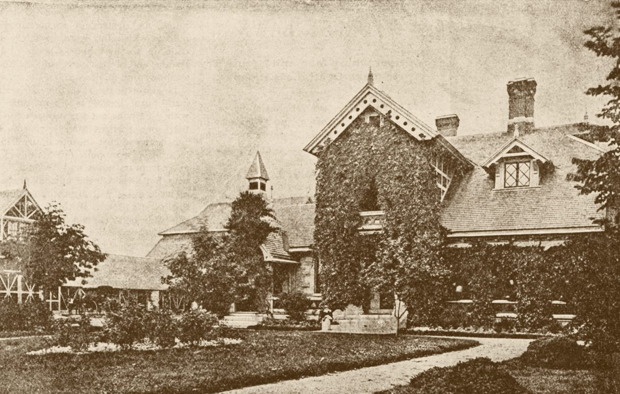 The Parks Superintendent's House, also known as The Farmstead. mid-1880s. (Buffalo Stories archives)