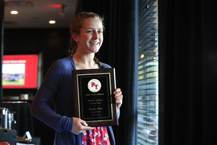The Buffalo News has honored the top scholastic athletes and teams as part of the Prep Talk Awards. The 2017-18 Female Athlete of the Year is Kayla Blas, a senior at Sacred Heart. Blas played field hockey, ice hockey and lacrosse and is heading to Northwestern in the fall to continue her field hockey career. Take a look at Sacred Heart's Blas, The Buffalo News' Prep Talk Female Athlete of the Year.