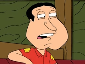 The irony  of course   Quagmire Family Guy
