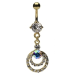 Gold Plated Double Hoop Belly Button Ring