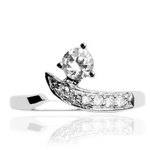 Solitaire CZ Toe Ring