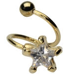 Gold Plated Star Twist Belly Ring