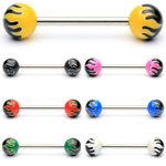 Flaming Ball Barbell / Tongue Ring