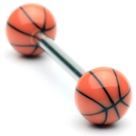 Basketball Tongue Ring