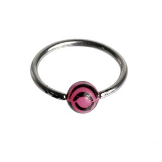Pink Tiger Captive Bead Ring