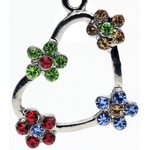 Flower Heart Top-Down Dangle Belly Ring