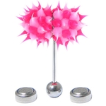 Pink Koosh Ball Thrasher Vibrating Tongue Ring