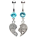 Aqua Best of Friends Belly Rings