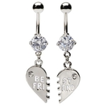 Clear Best Friend Belly Rings