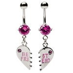 Pink Best Friend Belly Rings