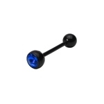 Blue-Black Bio Flex Jewel Tongue Ring