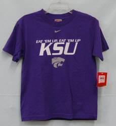 Nike 9C391MKI KSU Wildcat Youth Medium Purple Shirt