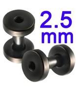 10g~2.5mm Screw Flesh Tunnel Ear Plug 10 Gauge ... - $7.95